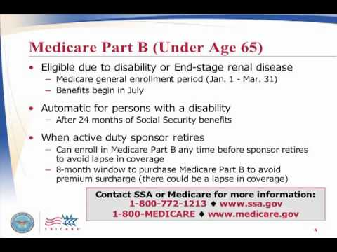 (Part 1) Using TRICARE and Medicare
