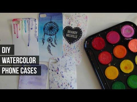 DIY Watercolor Phone Cases