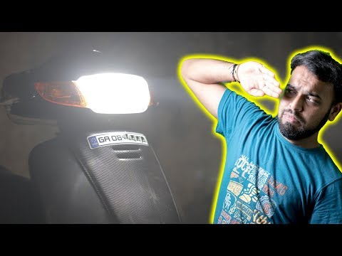 Superbright LED Headlight For any Bike | CREE led bulb |  how to install led headlights| DIY