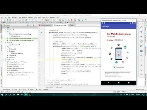 Creating PDF reader app - Android Studio Tutorial