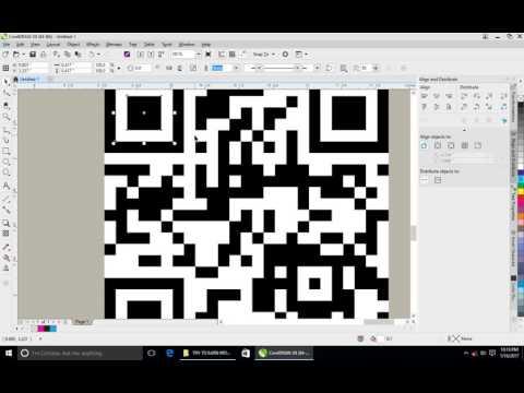 CorelDraw X8 block QR Code Solve