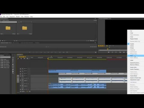 Merge video clips into One Nested Clip - Premiere CC - Quick Tip #2