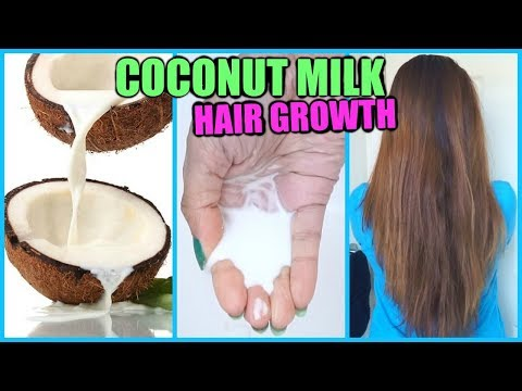 COCONUT MILK FOR HAIR GROWTH│HOW TO APPLY COCONUT MILK TO YOUR HAIR FOR SOFT, SHINY, LONG THICK HAIR