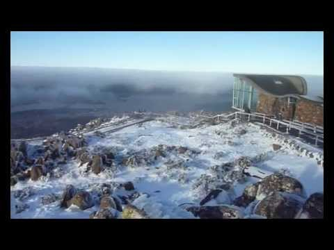 A trip to the summit of Mt. Wellington in Tasmania, in winter time.