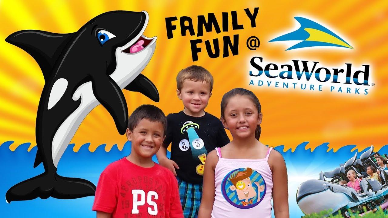 Skylander Boy and Girl go to SEA WORLD!! Family Fun! Orlando, FL 2014