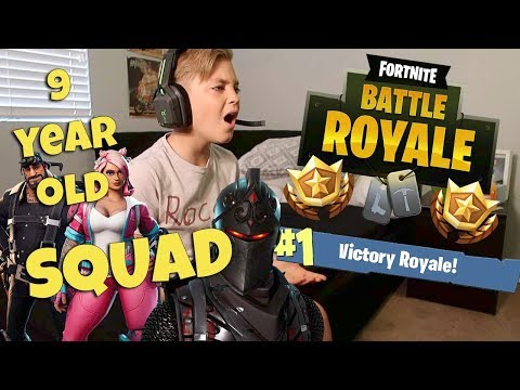 FORTNITE: 9 YEAR OLD KID SQUAD VICTORY ROYAL!  (ROCCO PIAZZA)