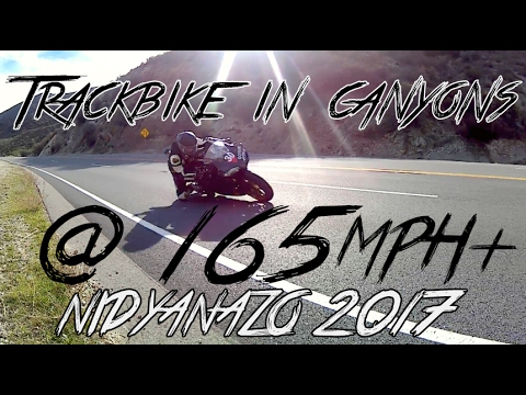 R1 trackbike in the canyons high-speed cornering