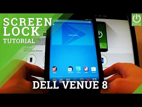 How to Use Screen Lock in DELL Venue 8 - Set Up Screen Protection