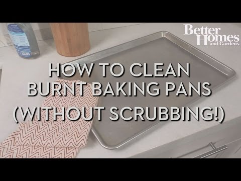 How to Clean Burnt Baking Pans (Without Scrubbing!)