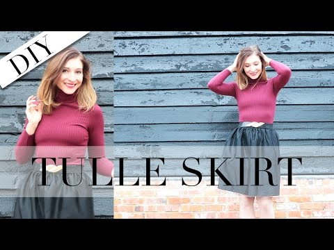 DIY   How to Make a Tulle Skirt Without a Zip   Holiday Lookbook   Szilvia Bodi