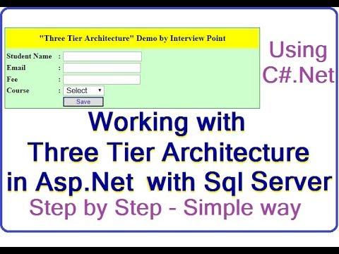 Three tier Architecture in Asp.Net Using C# & SQL Server | ASP.NET Registration Form | D.K. Gautam