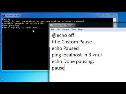 Batch Scripting - 9 - Custom Pause and Animation