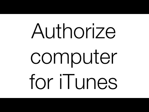 Authorize Computer For iTunes 2016