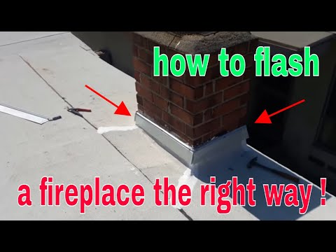 Roll Roofing:  CHIMNEY FLASHING  the right way !