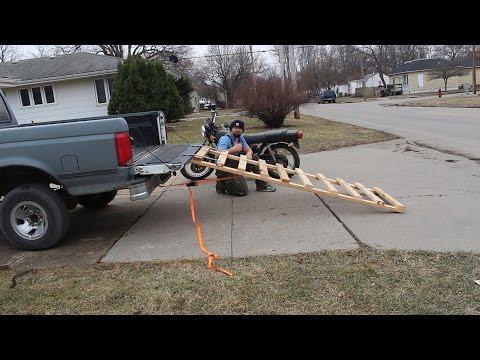 DIY Motorcycle Ramp out of 2x4 and scrap metal