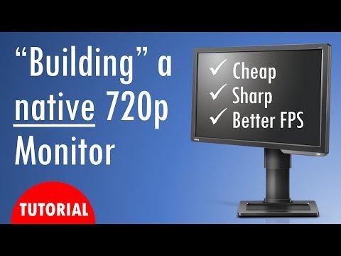 Building a native 720p monitor ft OzTalksHW