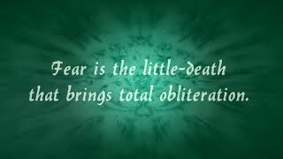 Bene Gesserit Litany Against Fear (Dune) - As performed by Bordeaux Black