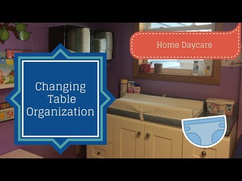 Diaper Changing Organization! How to organize a daycare diaper changing station.