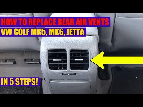TUTORIAL: How to remove the rear center console air vent VW Golf Mk5, Mk6, Jetta in 5 steps