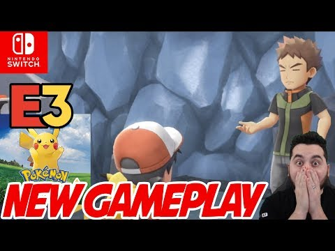 New Pokemon Gameplay! Pokemon E3 Full Presentation for Pokemon Let's Go Pikachu and Eevee!