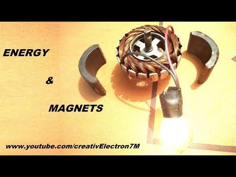 Free energy generator with dual magnet DC motors DIY
