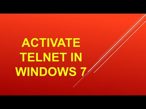 Telnet in Windows 7