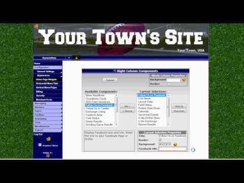 LeagueAthletics.com - Add Facebook to your Website