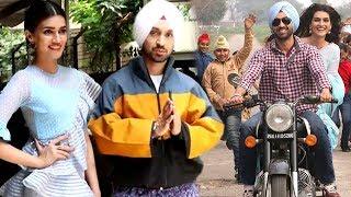 Beautiful Kriri Sanon With Charming Diljit Dosanjh Promoting Their Upcomin Film Arjun Patiala