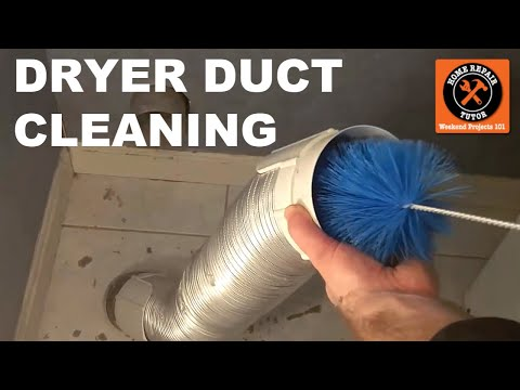 How to Clean Dryer Ducts - by Home Repair Tutor