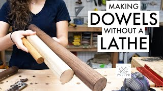 Making Large Dowels WITHOUT a Lathe // Woodworking Jig // Dowel Maker