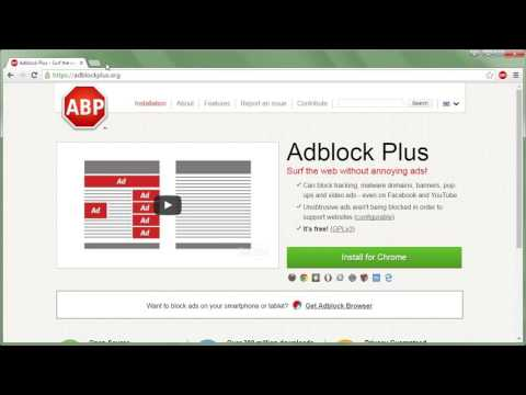 GOOGLE CHROME - How to set up Adblock Plus + hiding elements