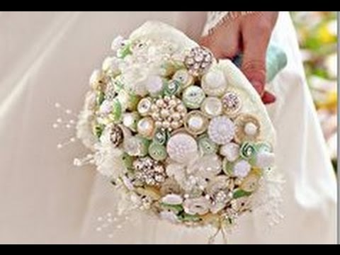 Vintage Button Bouquet Wedding DIY