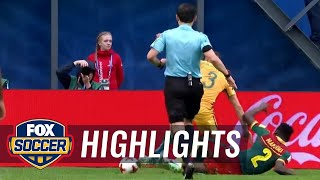 Penalty awarded to Australia after VAR review | 2017 FIFA Confederations Cup Highlights