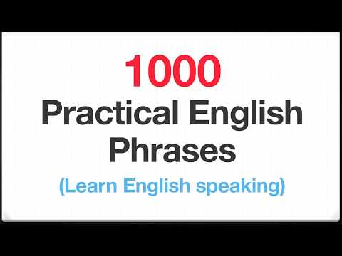 1000 Practical English Phrases - Learn English Speaking
