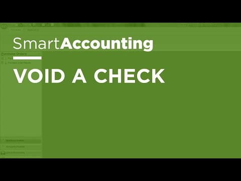 SmartAccounting - Void a Check