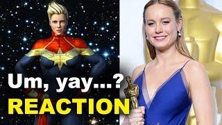 Download Brie Larson is Captain Marvel REACTION Video