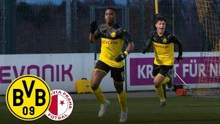 Moukoko & Reyna shoot BVB U19 into next round! | BVB U19 - Slavia U19 | Youth League | Highlights