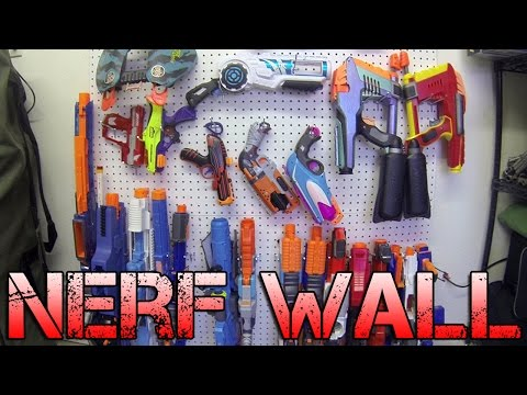 Nerf Pegboard Wall Installation! | From Concept to Complete!