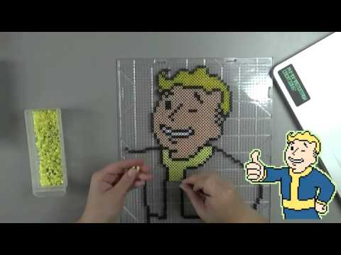 Speed Beading - Fuse Bead Vault Boy Inspired By Fallout