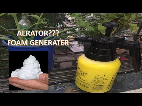 Foam generating pump for bike/car washing/Aerator