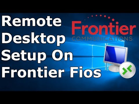 How To Setup Remote Desktop With Frontier Fios
