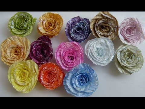 DIY(How to)Twisted paper cord making into spiral flowers by SaCrafters