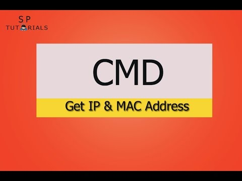 How to Get IP and MAC address from Command Prompt