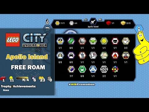 Lego City Undercover: Apollo Island FREE ROAM (All Collectibles) - HTG
