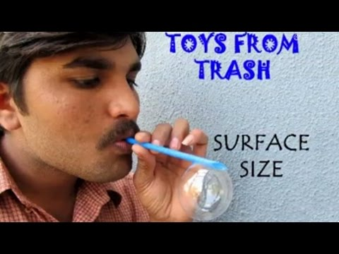 SURFACE SIZE - HINDI - More the area of the blowing straw, bigger the Soap Bubble!