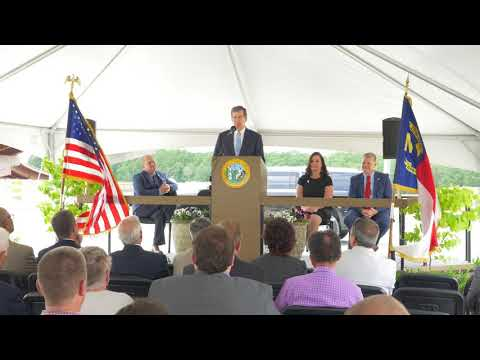 Governor Roy Cooper at the  I-785 Groundbreaking