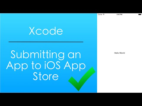 Submitting an App to the iOS App Store (Xcode)