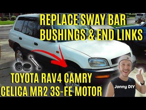 How To Replace Sway Bar Bushings & Stabilizer End Links Toyota Rav4 Corolla Camry -Jonny DIY