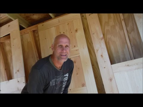 Greenhouse Shed Build Part 8 Doors