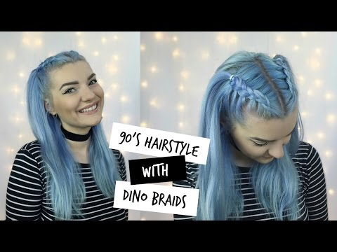 Easy 90's Hairstyle / Dino Braids | LoveFings